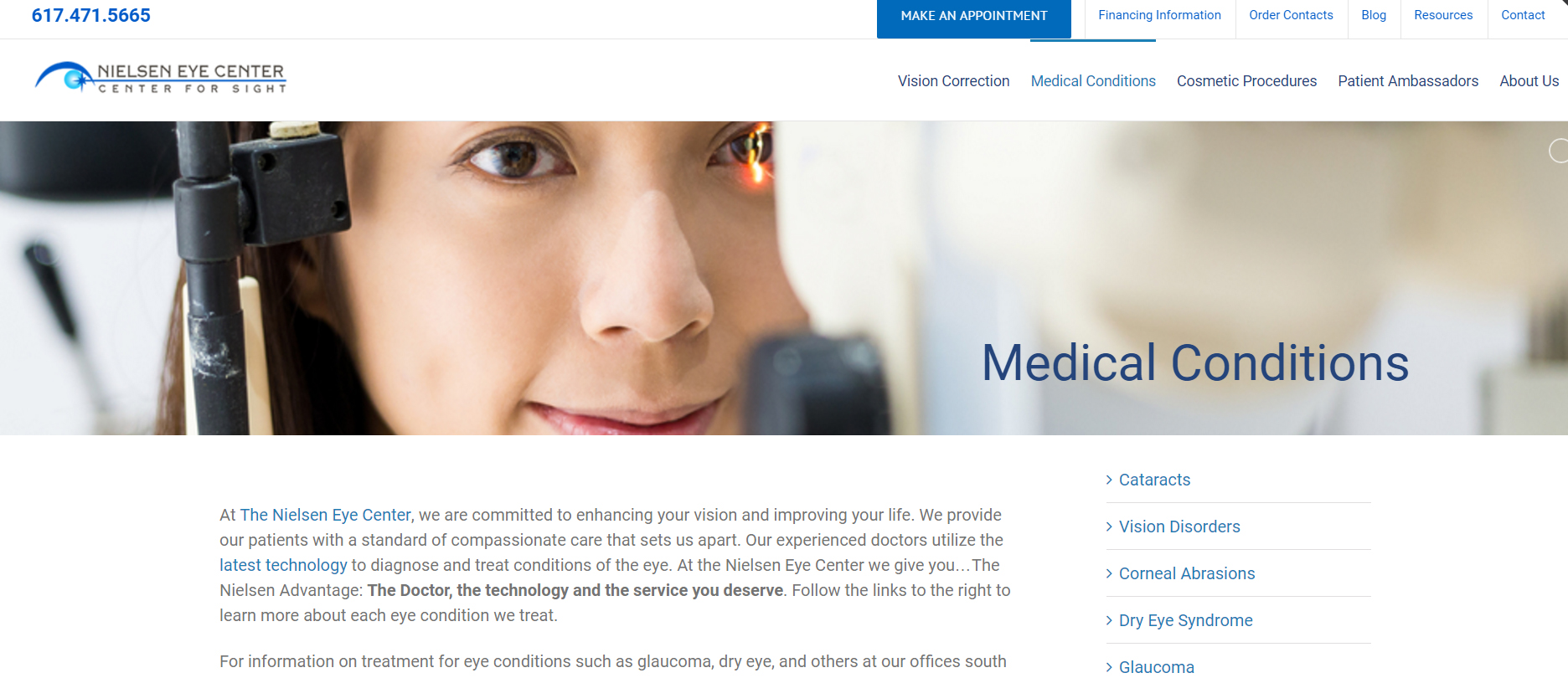 Nielsen Eye Center Responsive Web Design