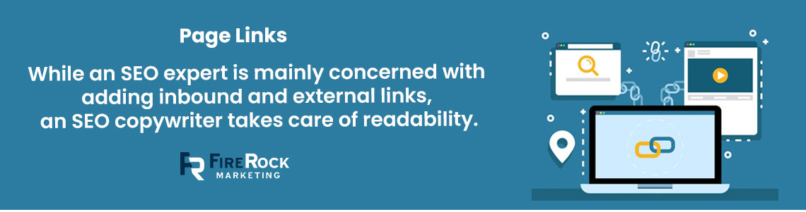 Importance of page links in roofing SEO copywriting