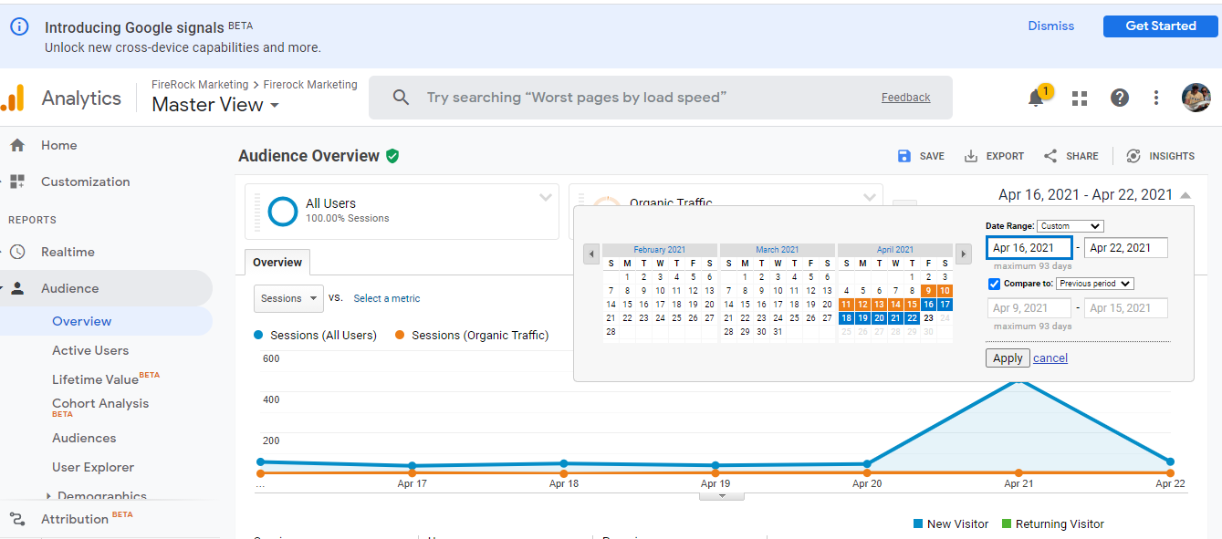 Roofing website SEO tracking and analysis using Google Analytics